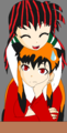 Livi and Tailsica in inuyasha form