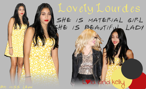 Lourdes Ciccone Leon wallpaper containing a portrait entitled Lola and Kelly