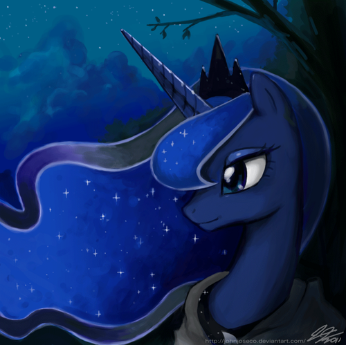 Luna On a stroll
