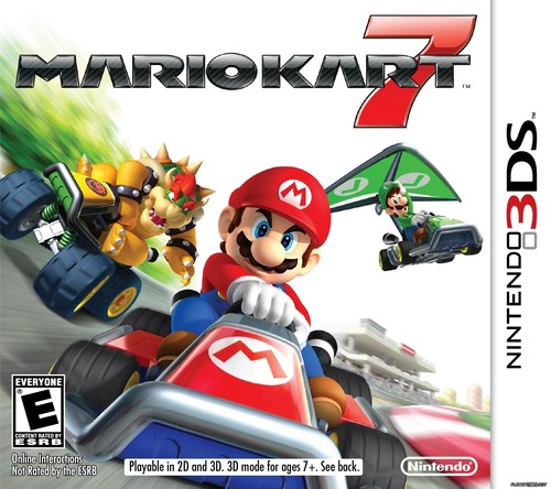 Mario Kart 바탕화면 possibly with 아니메 titled Mario Kart 7