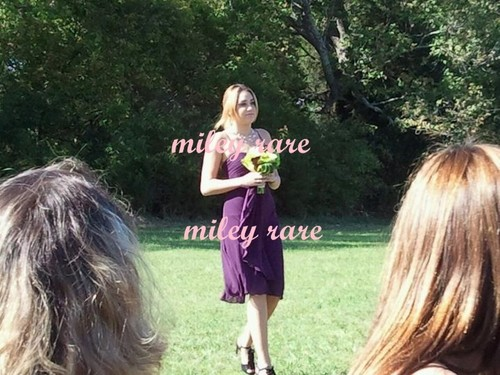 Miley,on 1st october on his uncle's wedding in Tennesse