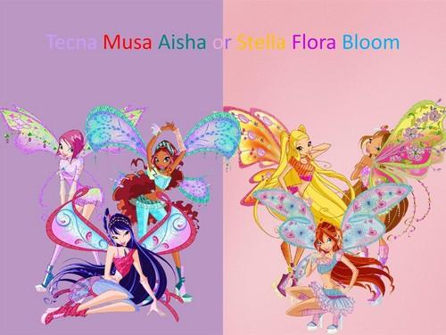 दा विंक्स क्लब वॉलपेपर entitled Musa Aisha Tecna Flora Bloom Stella