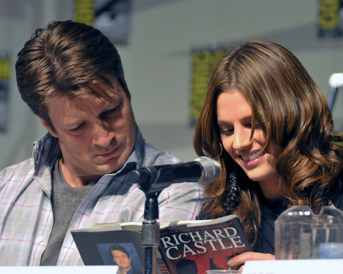 Nate & Stana at Comic Con