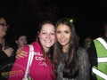 Nina on set of TVD,