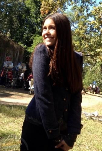 """Nina on set of TVD,""""Witch House"""""""