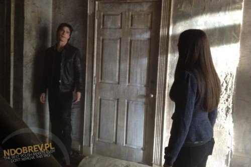 "Nina on set of  TVD,""Witch House"""