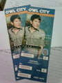 Owl City Concert Ticket