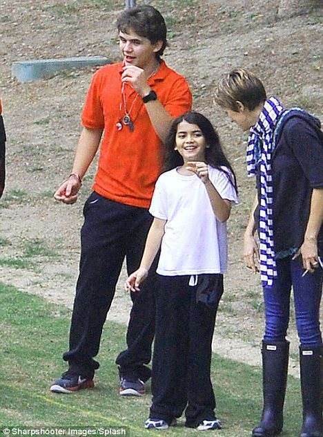 Paris Jackson's Flag Football Game 10.25.11