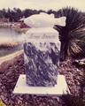 Pet cemetery grave marker