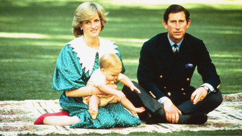 Princess Diana, baby prince William & Prince Charles