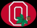 RED BLOCK O WITH BUCKEYE LEAF - basketball photo