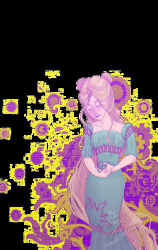 Rapunzel looking around