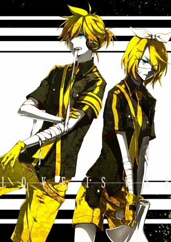 vocaloid hình nền probably containing anime called Rin and Len tình yêu Is War