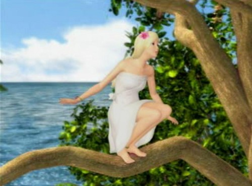 Barbie as the island princess wallpaper probably with a bather called Ro/sella
