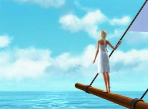Barbie as the island princess wallpaper possibly containing a shell and an oar called Ro/sella