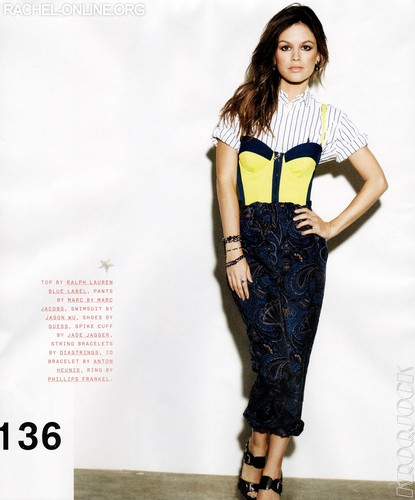 Scans of Rachel in 'Nylon' magazine - November 2011 [HQ]