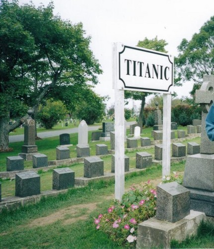 Section Of Cemetery Where TITANIC Casualties Are Burried