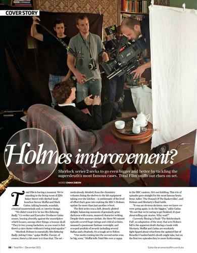 Sherlock Total Film Magazine مضمون