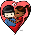 Smooch - spock-and-uhura fan art