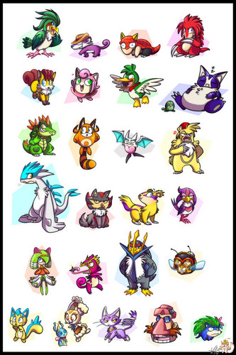 Sonic Characters ( Pokemon Style ... I guess. XDDD )