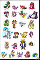 Sonic Characters ( Pokemon Style ... I guess. XDDD ) - sonic-the-hedgehog photo