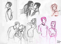 Spock and Uhura sketches