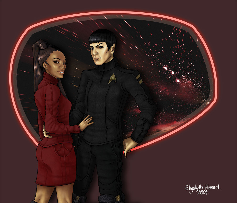 ponders relationship of uhura and spock
