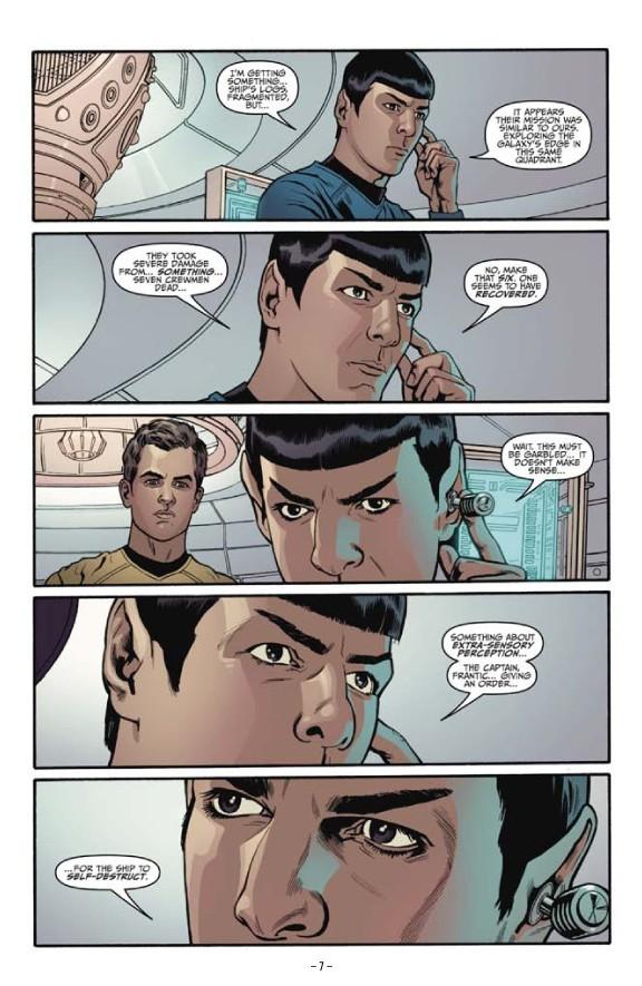 星, つ星 Trek Comic Book IDW ongoing issue 1
