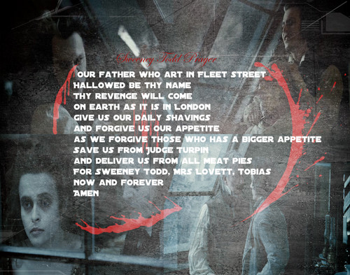 Sweeney Todd Prayer