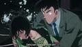 Takagi saves Sato - detective-conan-couples screencap