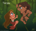 Tarzan and Jane Chibi