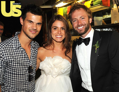 Taylor Lautner Attends Nikki Reed's Wedding Reception