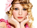 Taylor Swift in Pink Flower