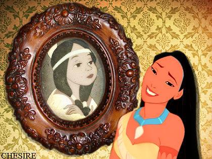 Disney crossover karatasi la kupamba ukuta called Tiger Lily/Pocahontas