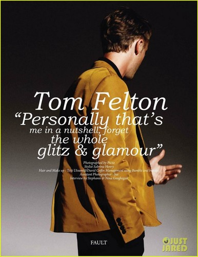 Tom Felton Covers 'Fault Men' Fall 2011
