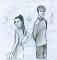 Uhura Spock - spock-and-uhura fan art