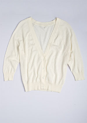V-Neck Button-Front Cardi