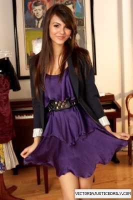 Victoria Justice wallpaper possibly containing a kirtle titled Victoria Justice - Jon McKee