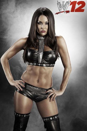 WWE wallpaper possibly containing a swimsuit, a hip boot, and a bikini called WWE 12-Nikki Bella