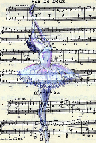 Ballet wallpaper called love