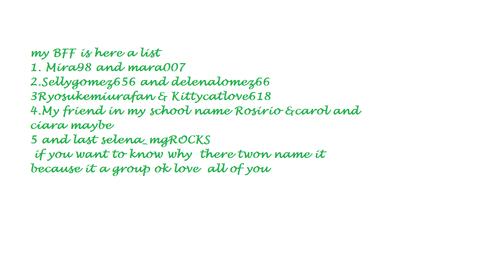 my BFF list