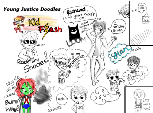 young justice doodles
