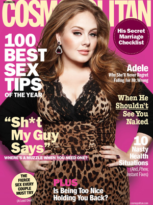 Adele on the cover of Cosmo December