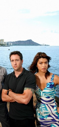 Steve and Kono wallpaper probably containing a pontoon and a lakeside entitled Alex & Grace