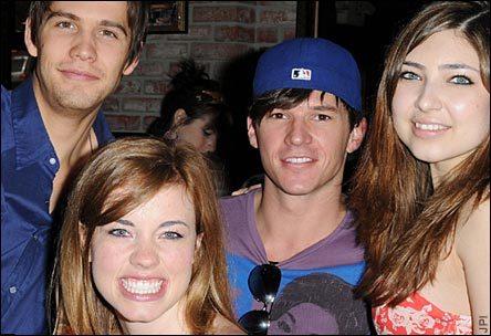 Casey Deidrick, Molly Burnett, Mark Hapka, and Shelby Young