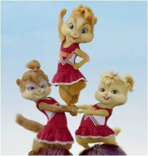 Chipettes <3!!! cheerleaders