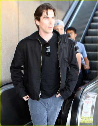Christian Bale & Sibi Make an LAX Landing - christian-bale Photo