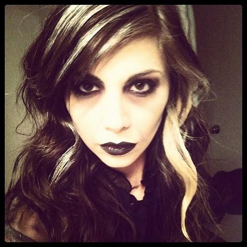 Christina dressed as a zombie
