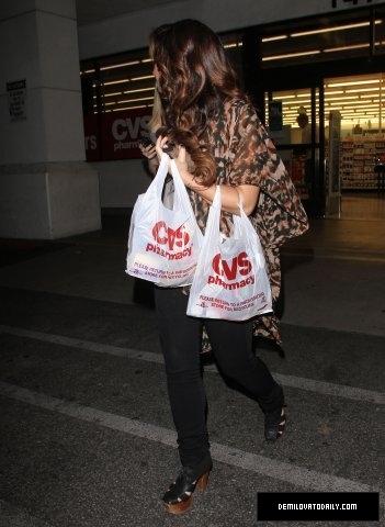 Demi - Leaving a CVS Pharmacy in Los Angeles, CA - October 30, 2011