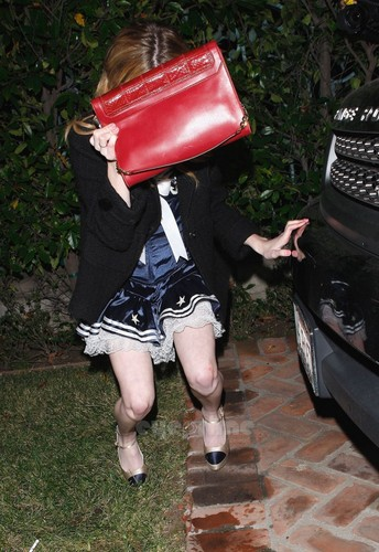 Emma Roberts leaves Halloween Party in Hollywood, Oct 28